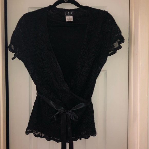 INC International Concepts Tops - Sexy black lace INC blouse